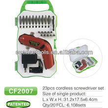 4.8V rechargeable cordless drill screwdriver bit set with GS CE certificate