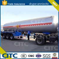 58.5 large volume optional LPG tank semi trailer export to America /Costa Rica/Philippines/Chile /Mozambique