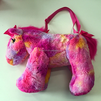 Custom colorful tie dye stuffed plush horse toy for kids