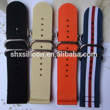 wholesale changeable expandable nylon textile watch strap