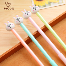 Wholesale Creative Cartoon Cute Rabbit design Jelly Gel Ink Pens Student Stationery gel Pen