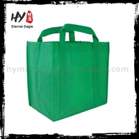 Plastic bottle wine non woven bag, christmas non woven bags, modern techniques reusable grocery non woven bags made in China