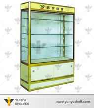 Glass display cabinets for cosmetic or perfume