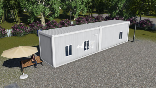 Living temporary office container, 20 feet container house