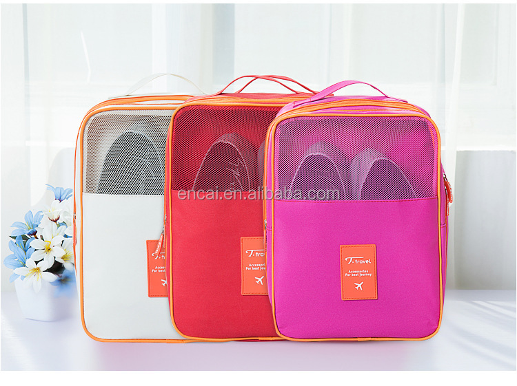 Encai New Design Travel Shoe Bag Organizer Waterproof Folding Shoe Bag