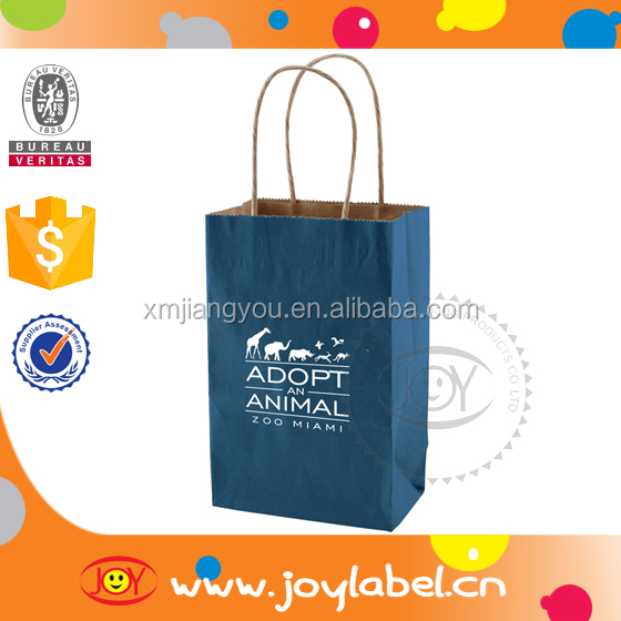 Newest Hot sale Brown kraft paper bag with handle