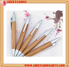 Cute style bamboo wood ballpoint pen with custom logo