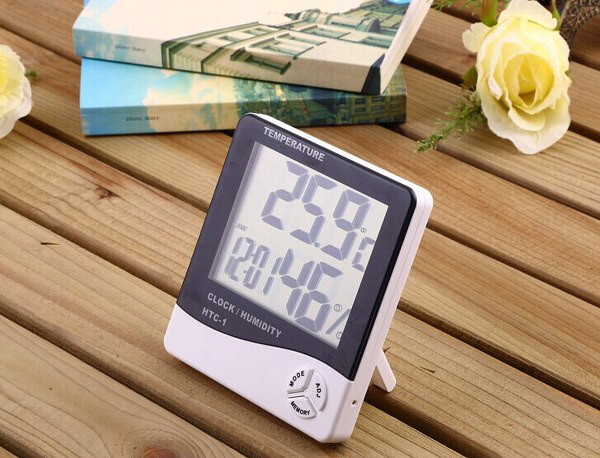 HT-01L Indoor and outdoor temperature and humidity meter with clock