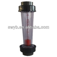 pvc glue joint plastic tube flow meter float flow meter