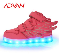 2016 Size 25-37 Small Order New Style Nice Look Wholesale Kids LED Shoes with Light Shoes For Children Kids