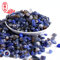 Blue Agate natural crystal stone price of rock Tumbled stone