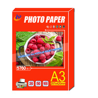 High Quality A3 size Cast Coated Double Sided Inkjet Glossy Photo Paper