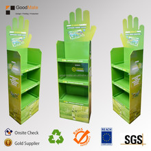Hot Customized Cardboard Advertising Floor Shelf display for Gloves