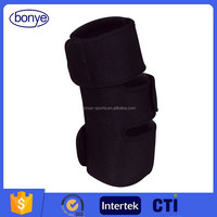 Adjustable Strap Elastic Patella Sports Support Brace Black Neoprene Open Knee Sleeve