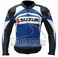 Motorcycle leather racing biker suzuki jackets