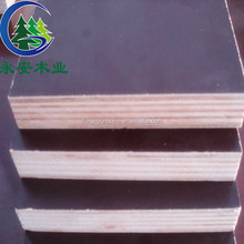 Popular melamine faced plywood used construction material / concrete forms sale