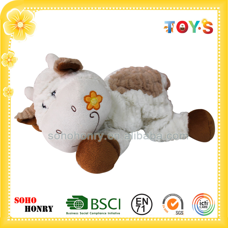 Cheap Free Stuffed Cow Toy Pattern of Plush Cow for Kids