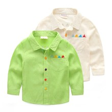 2015 Wholesale Boys Childs Clothes Children's Cotton Top Shirt Made In China