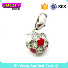 2017 Latest Alloy enamel wholesale football ball charm jewelry