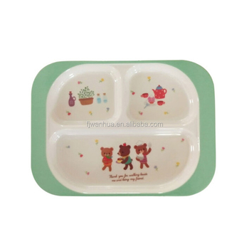 Melamine divided dinner plates for kids