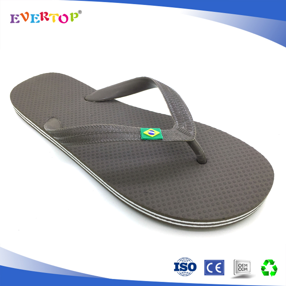 China manufacturer wholesale classics basic style flip flop best selling shoes footwear with briazl logo mens rubber slipper