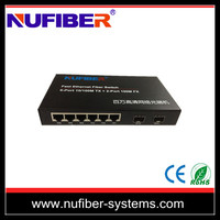 10/100M 6 port power over ethernet,network switches Ethernet Optical Fiber Switch