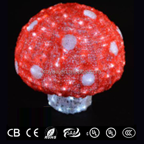 led light christmas decoration in mushroom shape new ornaments 2014