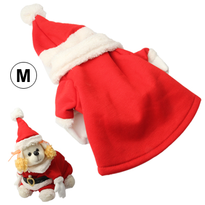 2017 Wholesale Merry Christmas Christmas Decoration Pet Dogs Cute Outfit Costumes Clothes with Hat for Christmas (Size: M)