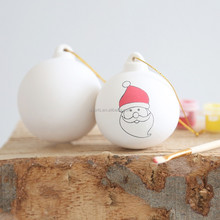 Personalized Christmas Ceramic Baubles DIY Ball Bauble