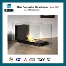 Fireplace high temperature resistant glass