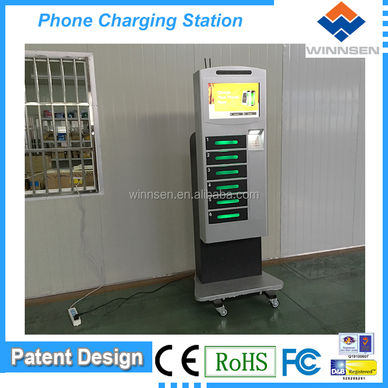 Wifi Commercial Mobile Phone Charging Unit with coins payment APC-06B