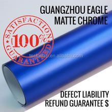 Matte Metallic Chrome For Car Wrapping Film Car Stickers With Air Free Channels/Hot Auto Accessories