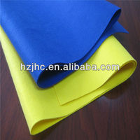 Electrically heated polyester non-woven blanket fabric material