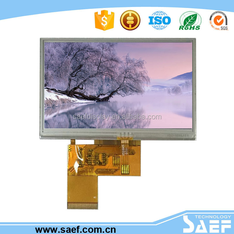 4.3 inch tft screen gps resolution 480x272 pixels lcd screen with White LED lcd