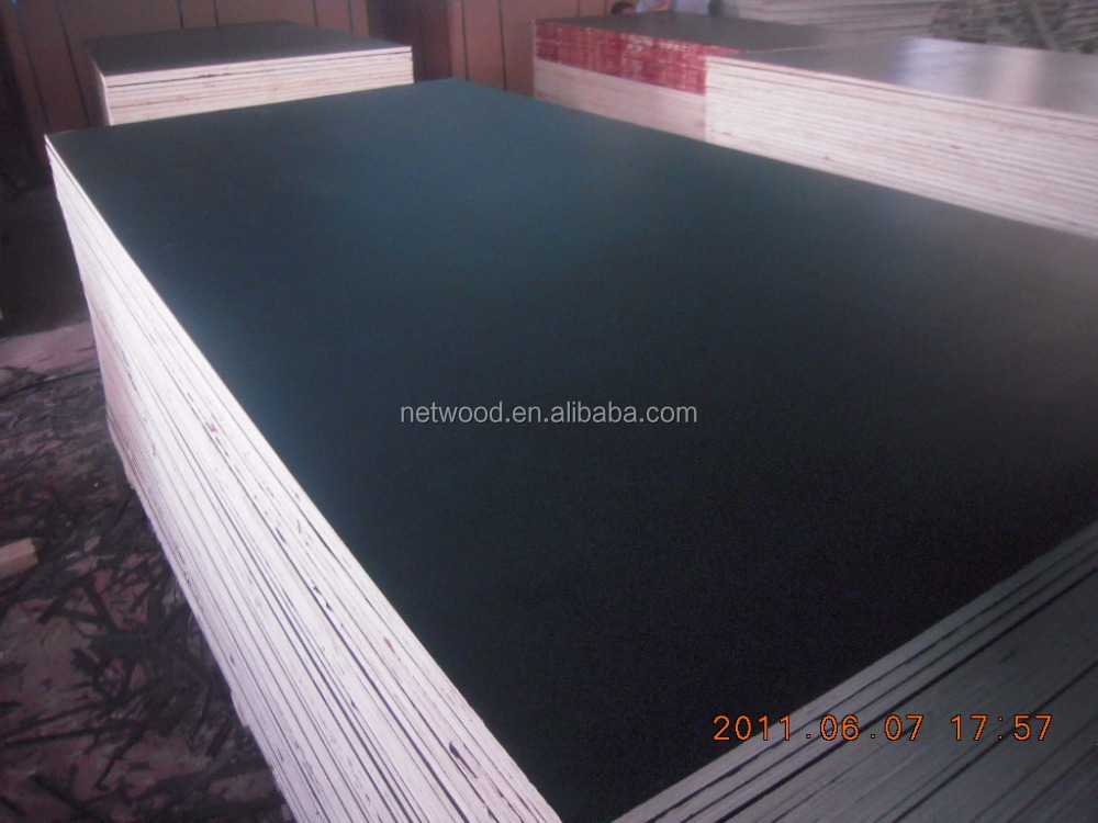 Waterproof WBP Glue Pine/ Poplar Core Film Faced Shuttering Plywood