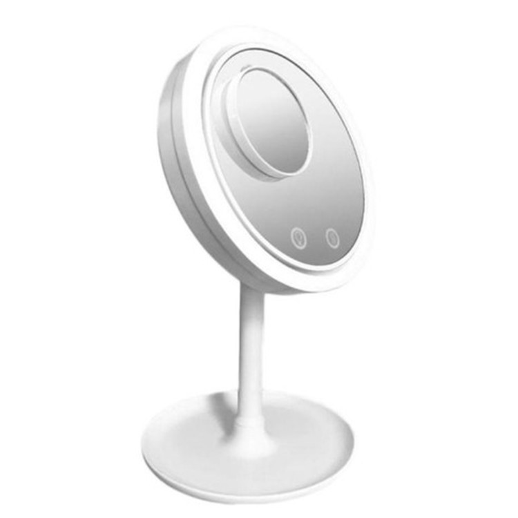 LED Beauty Breeze Makeup Mirror 5 Times Electric Fan Makeup Mirror Portable Desktop Vanity Mirror 3 in1