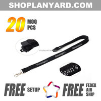 High Quality Tubular Customized Lanyard with Breakaway Clip