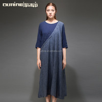Outline Original Brand Women's linen dresses fashion embroidered dress plus size linen clothing