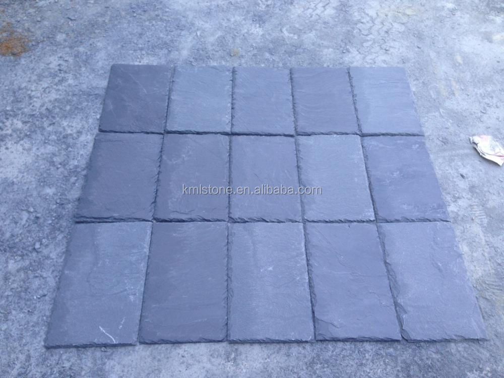 Exterior black natural slate roofing tile