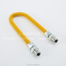 csa approved gas hose YELLOW COATED GAS CONNECTOR