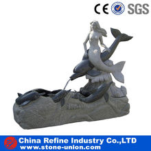 decorative outdoor garden mermaid water fountains for sale