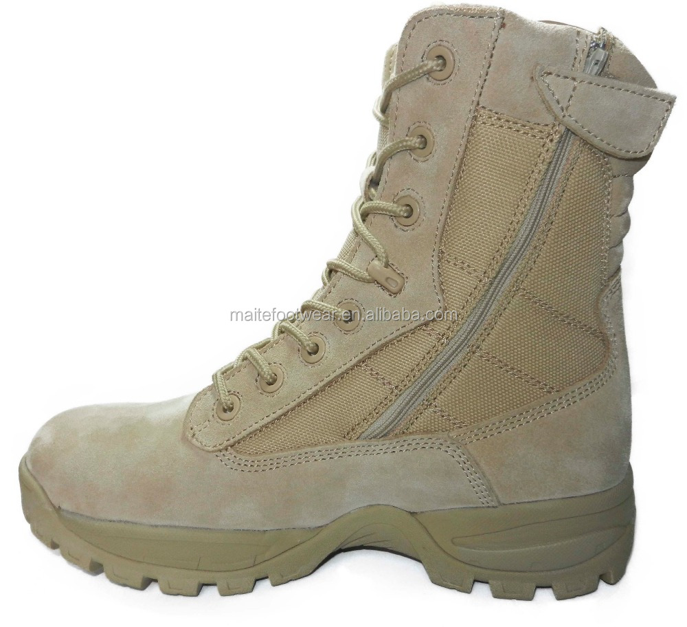 american new style steel toe desert military boot