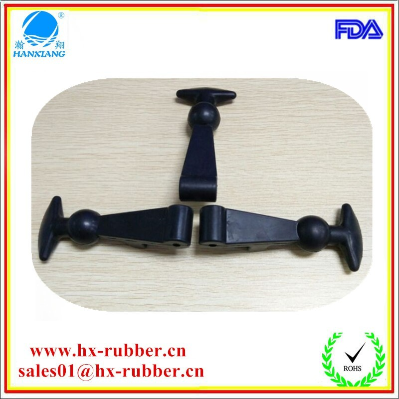 EPDM molded rubber latch with stainless / screw toggle door latches