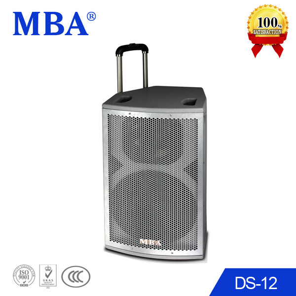 2014 12 inch Pure White big Active powered Speaker Portable Style with USB SD FM Wireless Microphone Remote control
