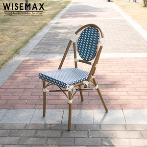 french bistro Outdoor Rattan garden furniture bamboo look woven rattan Wicker chairs