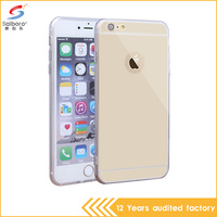 top selling newest electroplating tpu with pc mirror mobile phone case cover for iPhone 6 6s