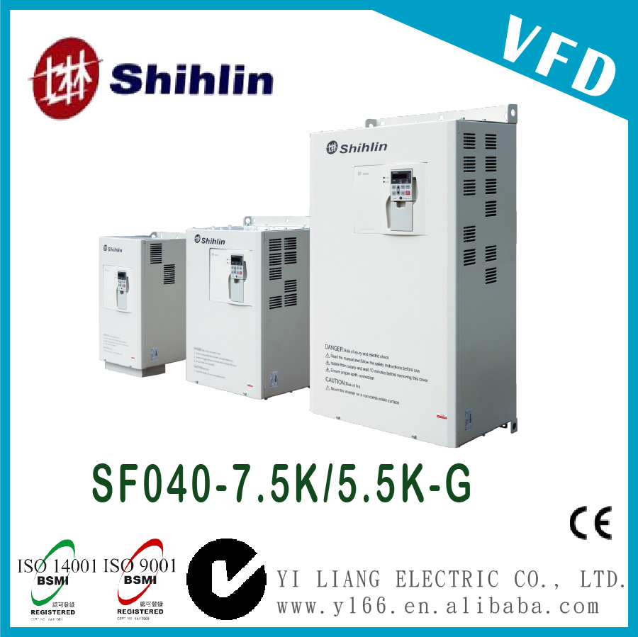 SF040-7.5K/5.5K-G 10HP Taiwan three phase dual-load high performance vector control inverter 440V vfd
