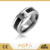 POYA Jewelry Mens Tungsten Carbide Wedding Band Ring Paved Black Cubic Zirconia