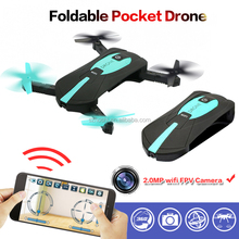 2017 New Arrival JY018 Drone HD Wifi FPV 2MP camera Pocket Foldable RC Quadcopter Drone 6-Axis Gyro G-sensor RC Helicopter Toys