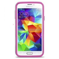 Double Layer Case for Samsung Galaxy S5 SM -G900F / SM - G900H / SM - 900R4 - Kubalt Type (White / Pink)